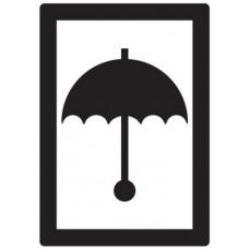 Waarschuwingsetiket Paraplu